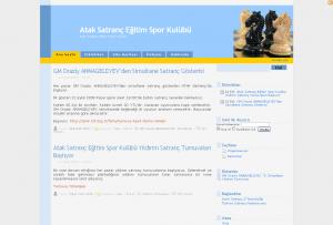 Atak Satranç Eğitim Spor Klübü sitesi ekran görüntüsü